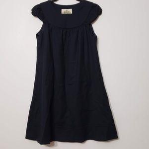 Anthropologie NAVE Black Cap Sleeve Dress, sz 2